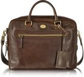 The Bridge Story Uomo Dark Brown Leather Briefcase