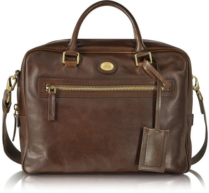 The Bridge Story Uomo Dark Brown Leather Briefcase