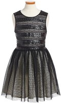 Ruby & Bloom Girl's Scallop Lace & Tulle Dress