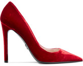 Prada Velvet Pumps - Red