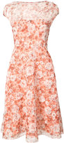 Lela Rose short sleeve floral midi dress - women - Silk Organza - 6