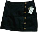 Free People Black Cotton Skirts