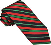 Asstd National Brand Hallmark Candy Cane Striped Lurex Tie - Extra Long