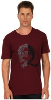 McQ by Alexander McQueen Ripped Drop Shoulder Tee (Oxblood) - Apparel