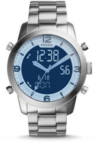 Fossil Pilot 54 Analog-Digital Stainless Steel Watch