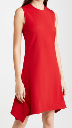 Victoria Victoria Beckham Flounce Hem Lightweight Stretch Dress