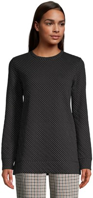 Lands' End Women's Quilted Tunic Sweatshirt