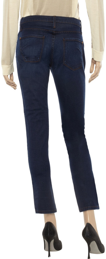 James Jeans Riley mid-rise straight-leg jeans