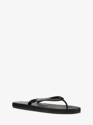 Michael Kors Dakota Crocodile Flip-Flop