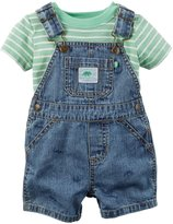 Carter's 2 Piece Shortall Set (Baby) - Denim - Newborn