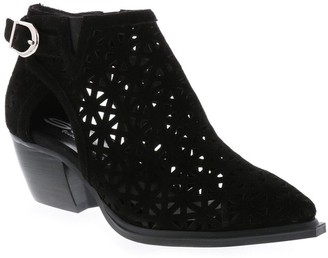 Sbicca Perforated Leather Ankle Booties - Bessant