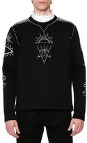 Valentino Embellished Tribal Sweatshirt