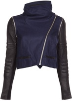 Yigal Azrouel Leather And Wool Jacket