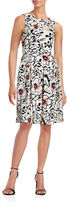 Karl Lagerfeld Paris Floral Fit-and-Flare Dress