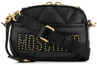 Moschino studded logo crossbody bag