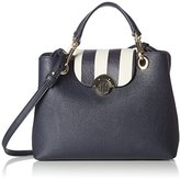 Tommy Hilfiger Effortless Novelty Med Satchel Stripe, Women's Satchel, Blau (Navy/turtle Dove), 12.5x20.5x25.5 cm (B x H T)