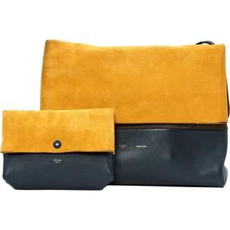 Celine All Soft Yellow Suede Handbags