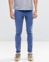 Asos Super Skinny Jeans In Bright Blue