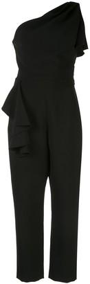 Marchesa Notte One-Shoulder Tailored Jumpsuit