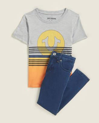 True Religion Boys 4-7) Two-Piece Sunset Logo Tee & Jeans Set