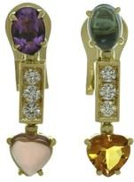 Bulgari 18K Yellow Gold Allegra Multicolor Diamond Earrings