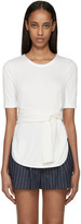 3.1 Phillip Lim Ivory Knit Tie Front T-Shirt