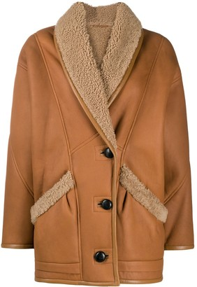 Isabel Marant Single-Breasted Shearling-Lined Coat
