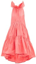 Roksanda Alessa Ruffled Cotton-blend Tafetta Gown - Womens - Pink