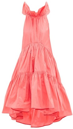 Roksanda Alessa Ruffled Cotton-blend Tafetta Gown - Pink