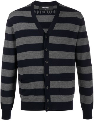 DSQUARED2 Striped Long-Sleeve Cardigan