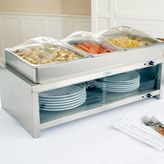 Broil King Stainless Steel Warming Cabinet and 3 Pans with Lids