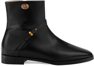 Gucci strap detail ankle boots