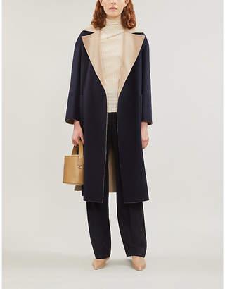Max Mara Zibetto two-tone longline wool coat