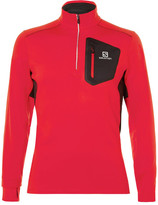 Salomon Trail Runner Advancedskin Half-zip Mid-layer Top - Red