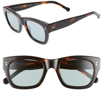 Colors In Optics Panther 51mm Mirrored Rectangular Sunglasses