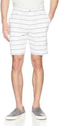 Nautica Men's Classic Fit Flat Front Stretch Chino Deck Short
