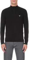 Armani Jeans Zip-detail jumper