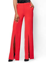 New York & Co. Front-Slit Palazzo Pant - Red