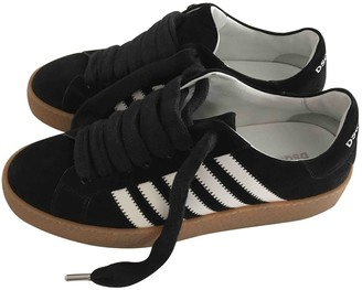 DSQUARED2 Black Suede Trainers