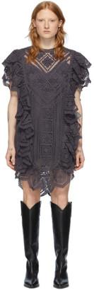 Isabel Marant Purple Zanetti Short Dress