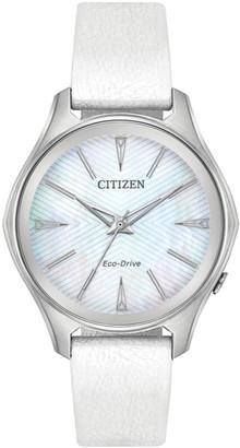 Citizen Women's Leather Watch