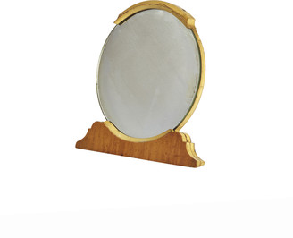 Rejuvenation Art Deco Tabletop Mirror w/ Wood Frame