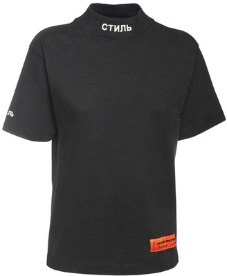 Heron Preston Mock Collar Cotton Jersey T-shirt