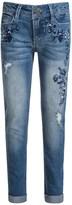 Blue Spice Floral Embroidered Jeans - Skinny Leg (For Big Girls)