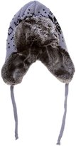 AshopZ Women's Faux Fur Knitted Winter Aviator Trooper Hat with Earflaps