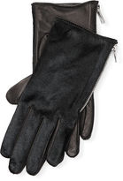 Ralph Lauren Haircalf-Leather Zip Gloves