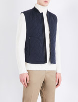 Gieves & Hawkes Quilted stretch-cotton gilet