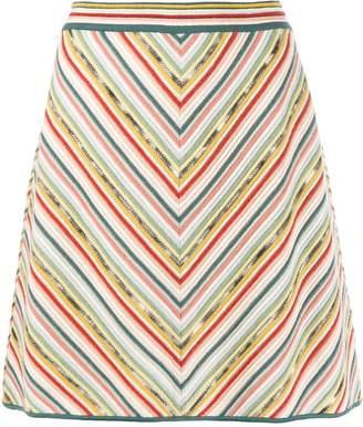Missoni stripe A-line skirt