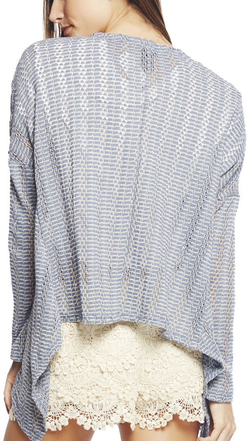 Wet Seal Open Weave Cardi