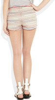 Maje Lueur embroidered cotton-twill shorts